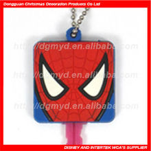 Cartoon non-phthalates and lead free custom design soft PVC key cover for promotion