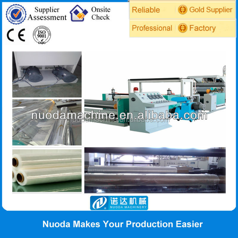 High Speed LLDPE LDPE EVA Plastic Extrusion Plant for Biodegradable Plastic Bag
