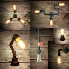 Newest arrival-loft industrical light Luiggi Matt black Steam Punk Ceiling Light