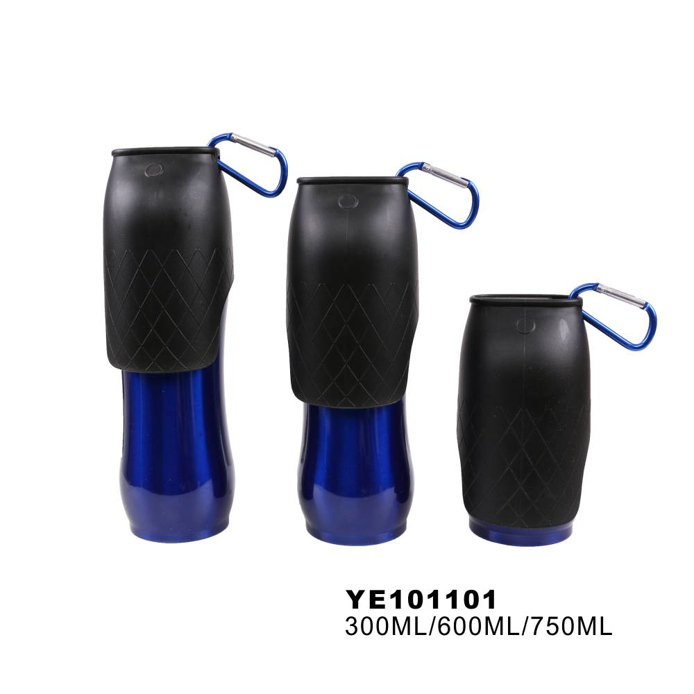 Tianyuan pet stainless steel wholesale portable dog travel water bottle