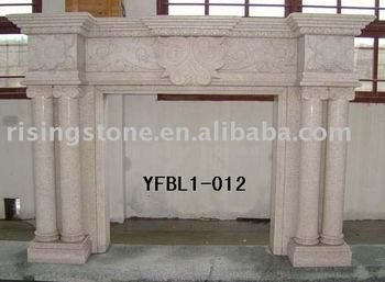 White Granite Fireplace Mantels( Limestone Fireplaces,Sandstone Fireplaces)