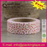Qcustom colour wall decorative paper tape from factory