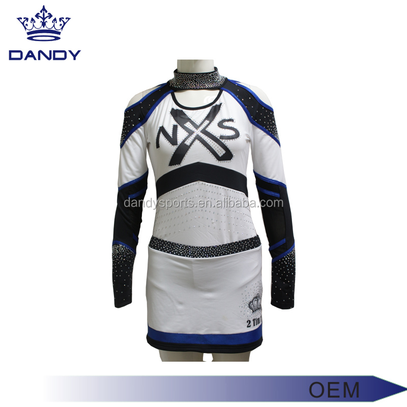 Breathable Quick-dry Lycra Cheap sublimation Cheerleading Uniforms manufacturer pricce Low MOQ