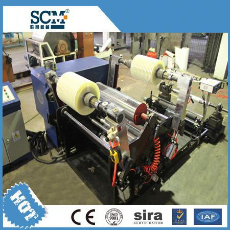 SCM -1300B BOPP/PVC/PE/kraft automatic slitting machine