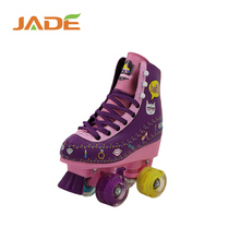 2017 hot sale fashion high quality 4 wheel skating shoes durable quad roller skate for kids and adults