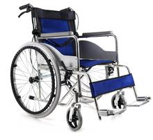 Aluminum Remote Folding Wheelchair with Manual Brake for Sale