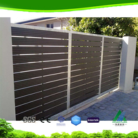 Factory price wpc decorative garden fence wpc panle wood plastic composite fence