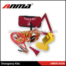Anma brand roadside car emergency kit roadside with booster cable