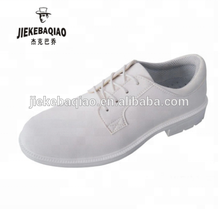 2018 microfiber lightweight food factory clean shoes antistatic ESD white safety shoes