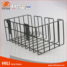 Wire mesh storage baskets rolling decorative basket for supermarket wire grid panels stand