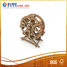 classical design wooden laser cut model home decoration