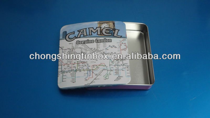 Tin Cigarette Case with Arch Lid