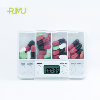 high quality Health Life Plastic Digital Food Grade mini Pill Box with Alarm Timer