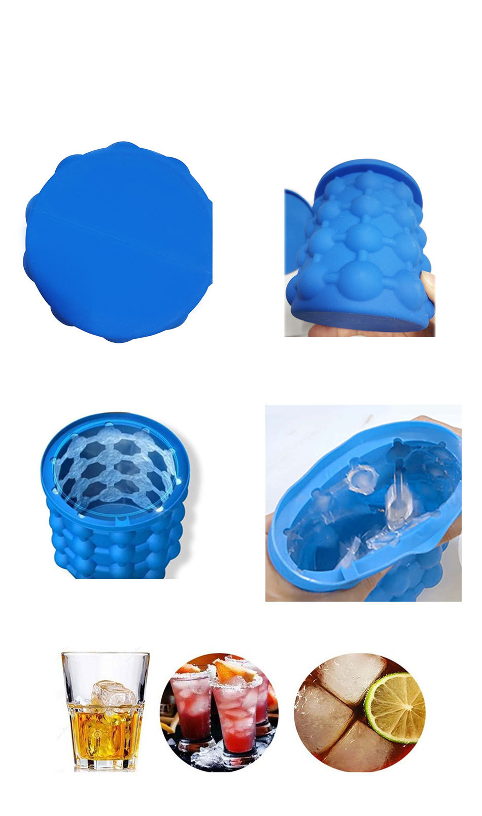 2018 Factory wholesales price Hot-selling Beer Wine Saving Ice Cube Maker Silicone Ice Bucket Genie