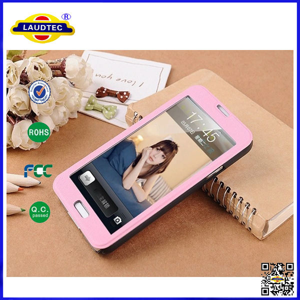Full Touch Screen Leather Case for Samsung Galaxy S5 IV