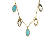 9K Solid Gold Horse Eye Stone Shaker <strong>Necklace</strong>