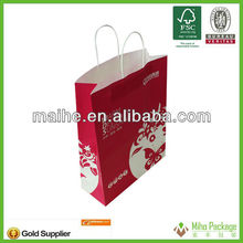 very cheap price machine made paper supermarket shopping bag