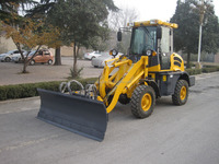 4WD 1.2t Compact Wheel Loaders ZL12F with Electric Joystick/Quick Hitch/Euro III Engine/Snow blade