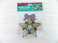 Latest Design 3d rubber christmas star sticker, custom super sticky christmas window sticker