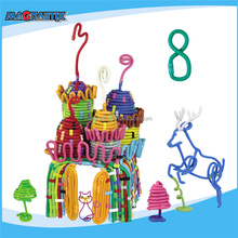 No.8363-180pcs Happy Christmas Educational Toys for Kids EVA Plastic Child Toy 3D DIY Toys