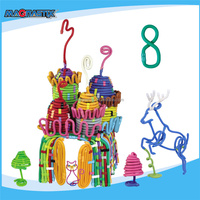 No.8363-180pcs Happy Christmas Toys for Kids Environmental EVA Plastic Child Toy 3D DIY Educational Toy Game for Children Baby