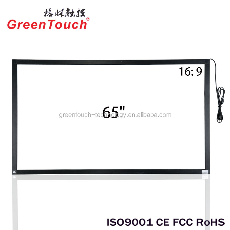 65 inch 10 touch sunlight resistant infrared touch screen overlay