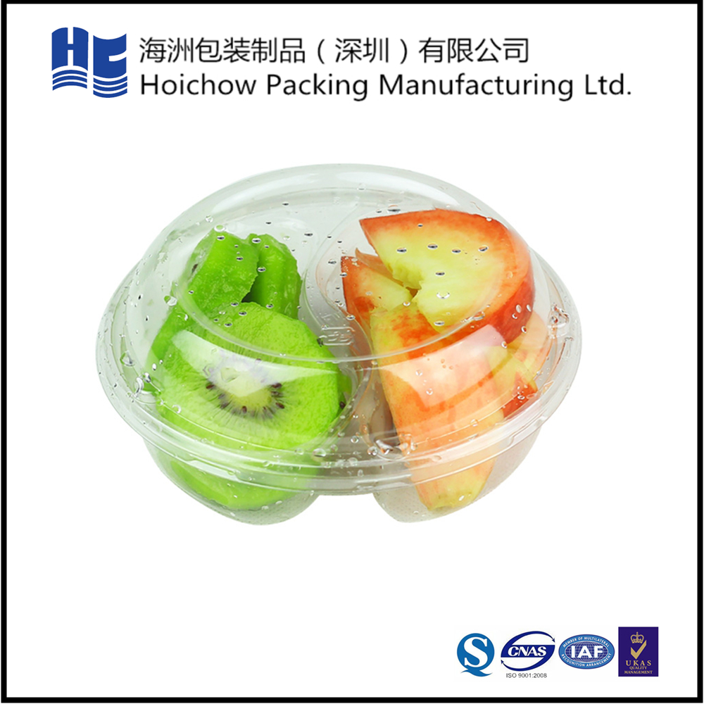 Round clear plastic tray with lid for kiwi fruit packing wholesale
