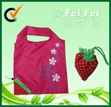 2014 promotional 190T polyester strawberry shape folding bag