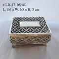 Zinc alloy Rect.Shape Jewellery Box with four Legs in Antique finished