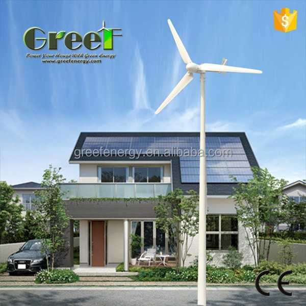 1kw 3kw 5kw 10kw 20kw hybrid wind solar system, off grid hybrid solar wind power system, low noise