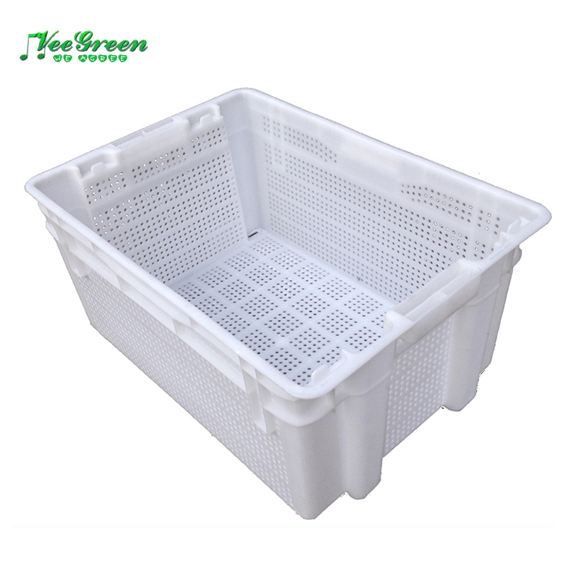 Nestable Plastic Vegetable Crate for Storage