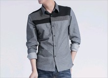 D90163M MEN STRIPED CASUAL SHIRTS