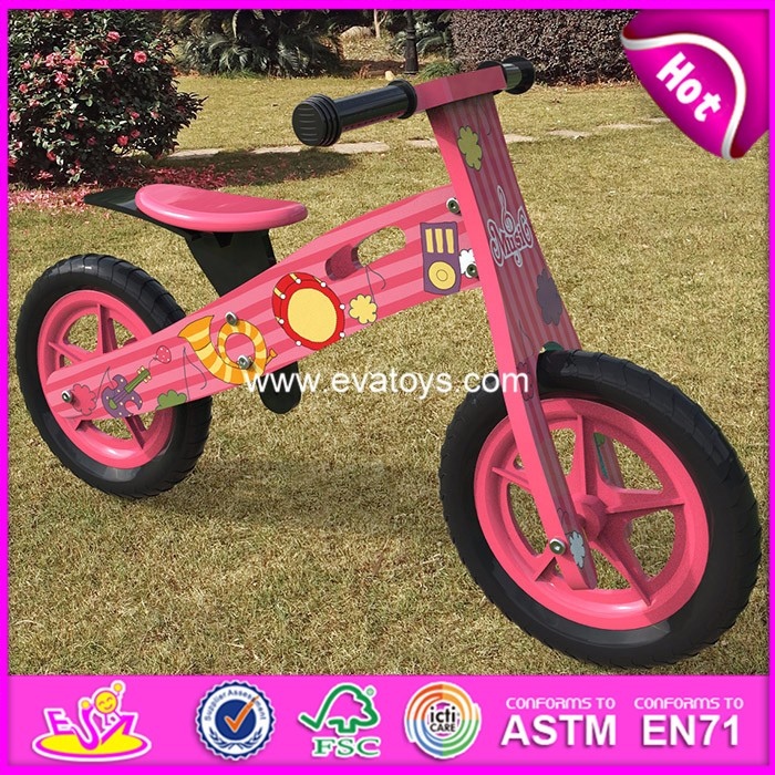 2018 hot sale kids wooden bike,popular wooden balance bike,new fashion kids bike W16C178