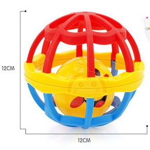 Baby Soft Stroller Grasp Ring Rolling Ball Children Hand Caught Learning Grasping Toy Gift 12cm children plastic learning toy