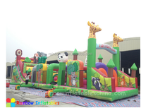 2016 zoo theme Inflatable obstacle course for sale