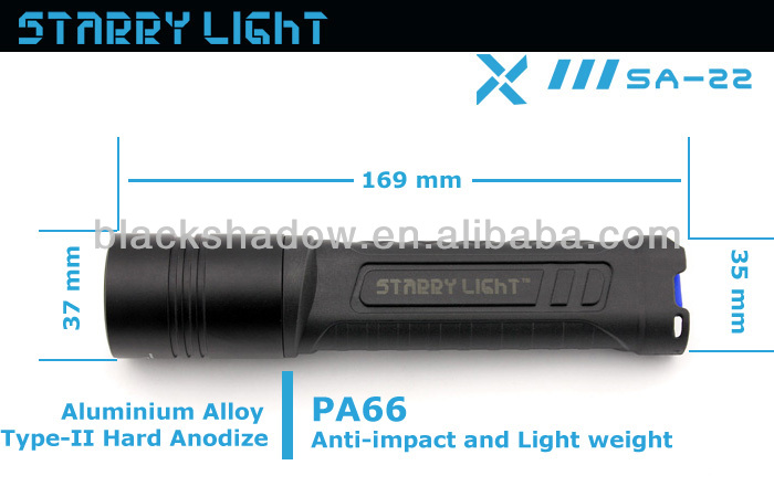 Starry Light SA-22 newest cree xm-l2 led 4*AA battery plastic flashlight