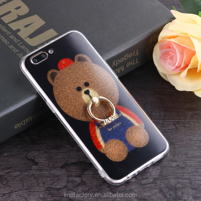 Professional manufacturer custom mobile phone with ring holder case shimmer cell accessory case cover for Samsung galaxy note 8