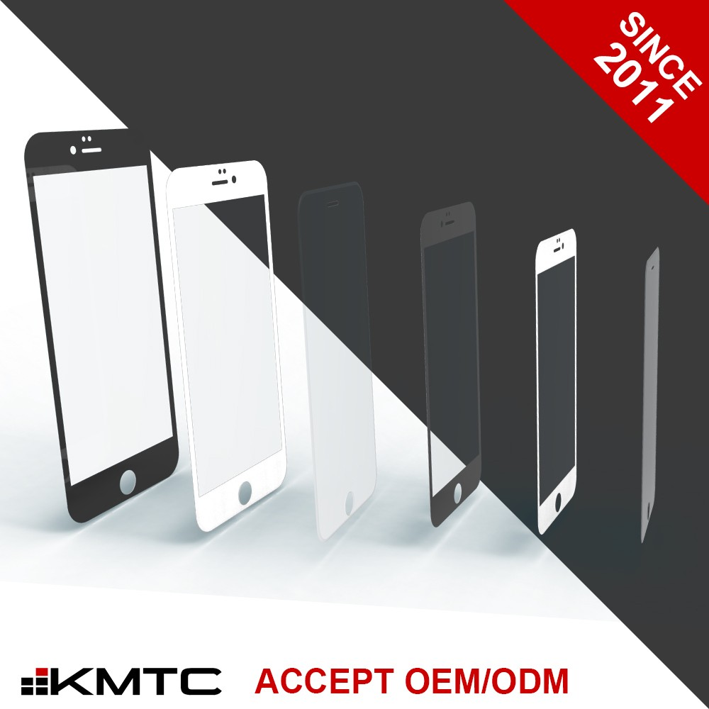 "KMTC OEM/ODM 3D Scratch Resistance Screen Protector Cell Phone for iphone 6 4.7"" BL"
