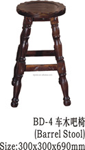 2014 High quality durable stool used solid wood to be finished for bar use