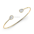 Factory wholesale price adjustable wire bangle bracelet wholesale