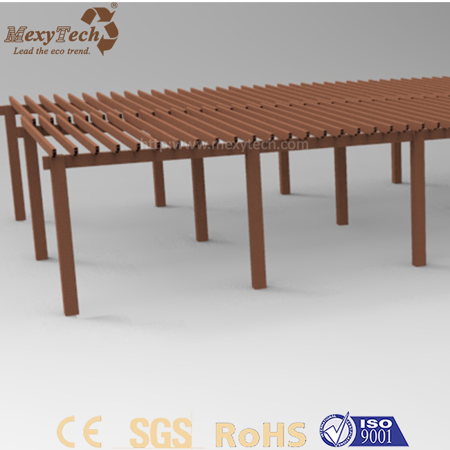Low price customized outdoor garden chinese style wpc pergola