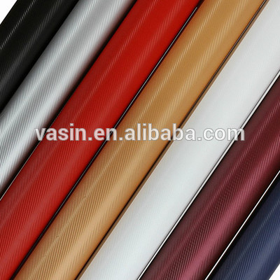 factory price 3d carbon fiber vinyl colorful vynil car wrap film for car and motorcycle