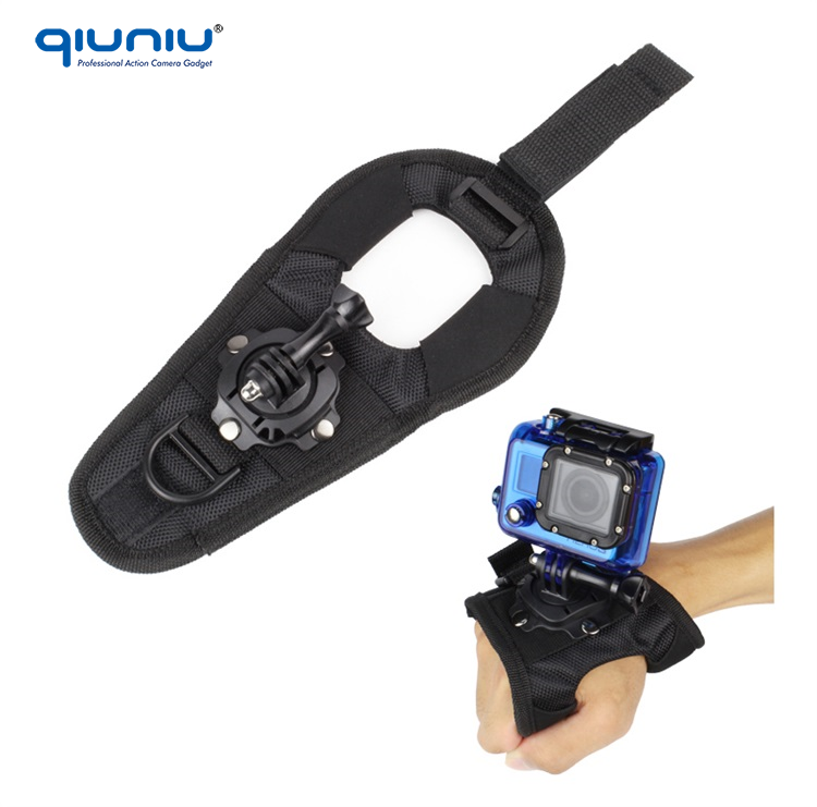 Large Size 360 Degree Rotation Glove-style Wrist Strap Belt Band Mount for GoPro Hero 4/3/2 Housing Shell