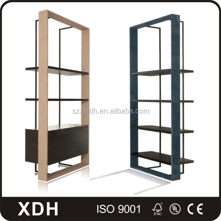New design wood wall clothes display cabinet clothing display stand rack