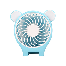 Wholesale custom Mini toy fan promotional fan Bear Mirror Folding Fan