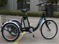 Front 24 inch wheels adults electric tricycles for old