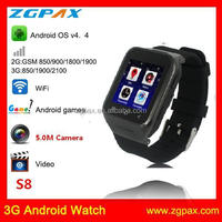 2015 new 3G android 4.4 OS watch mobile phone