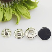 Customized newly design blue crystal flower iron snap button