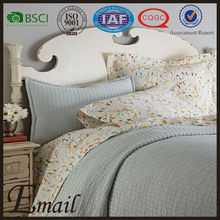 Elegant mintcream polyester materical customize quilt european style bedding set
