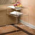 2-tiers Frosted Perspex/Acrylic end table